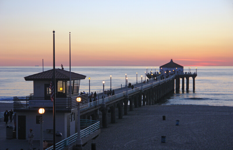 The pier in Manhattan Beach