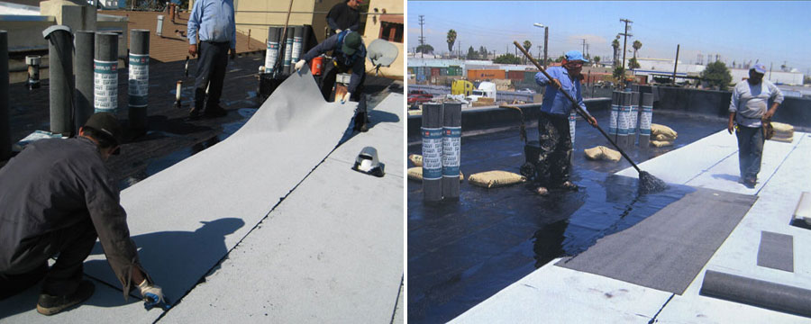 Hot Mop Built-Up Commercial Roof